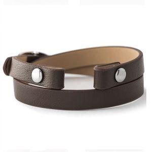 ORIGAMI OWL 🤎 Rich Brown Leather Wrap Bracelet